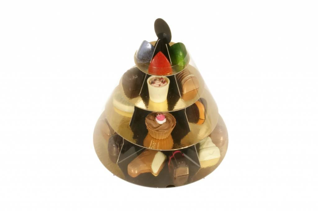 Etagère met 350 gram bonbons