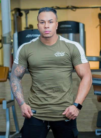 Hoistwear Hoist Curved Army/White Tshirt size S