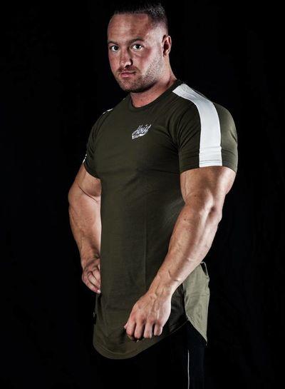 Hoistwear Hoist Curved Army/White Tshirt