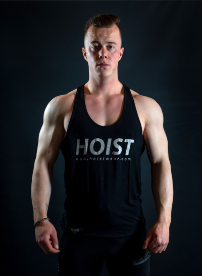 Hoistwear Elite-Stretch Black / Gray Hoist Singlet