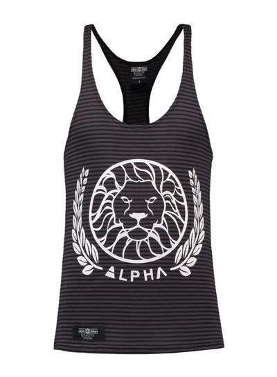 Alpha Alpha Striped Black size L