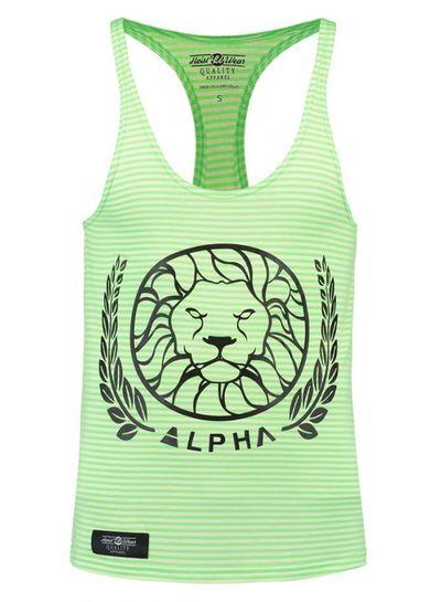 Alpha Alpha Striped Lime size  XS