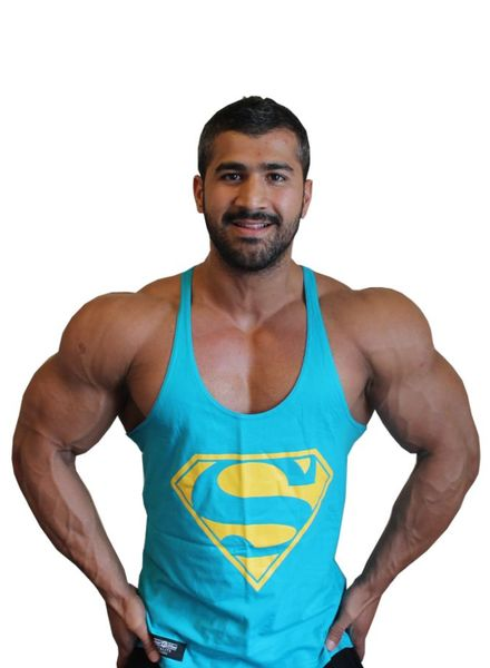 Hoistwear Superman Turquoise Stringer