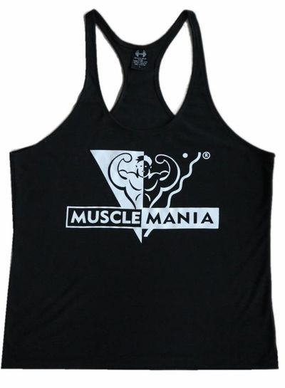MuscleMania Singlet Black