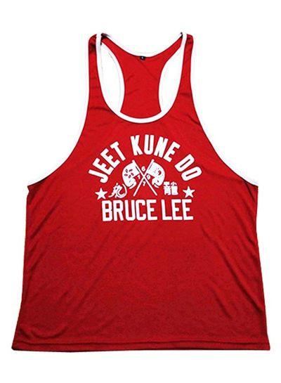 Fight Club Bruce Lee Red Tanktop
