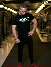 Hoistwear Team Hoist Curved Black Tshirt restocked