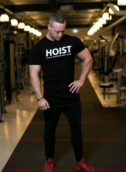 Hoistwear Team Hoist Curved Black Tshirt size S