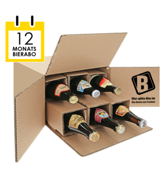 12-month beer subscription + beer diploma in gold