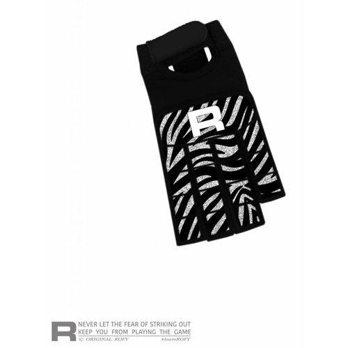 ROFY Half Finger Handschoen Zebra