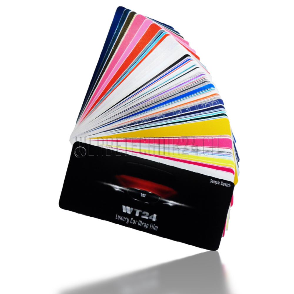 WT24 Luxury Car Wrap Film-Sample Swatch