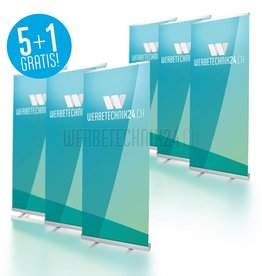 Roll-Up Classic 85x200cm Megapack 6 pièces