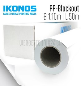 PP-Blockout für Roll-Up 1.10m