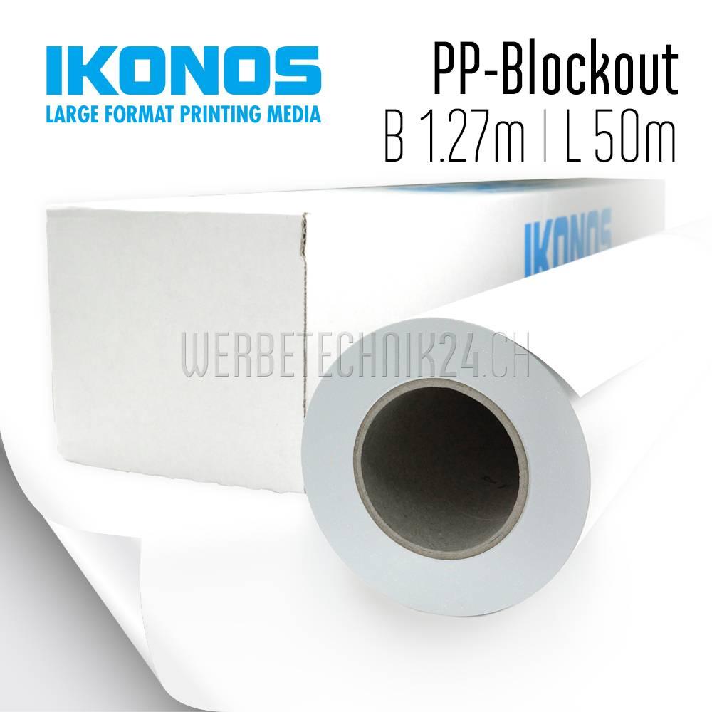 PP-Blockout für Roll-Up 1.27m