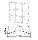 Pop-Up Messewand Classic 3x3 Felder (5 Bahnen)