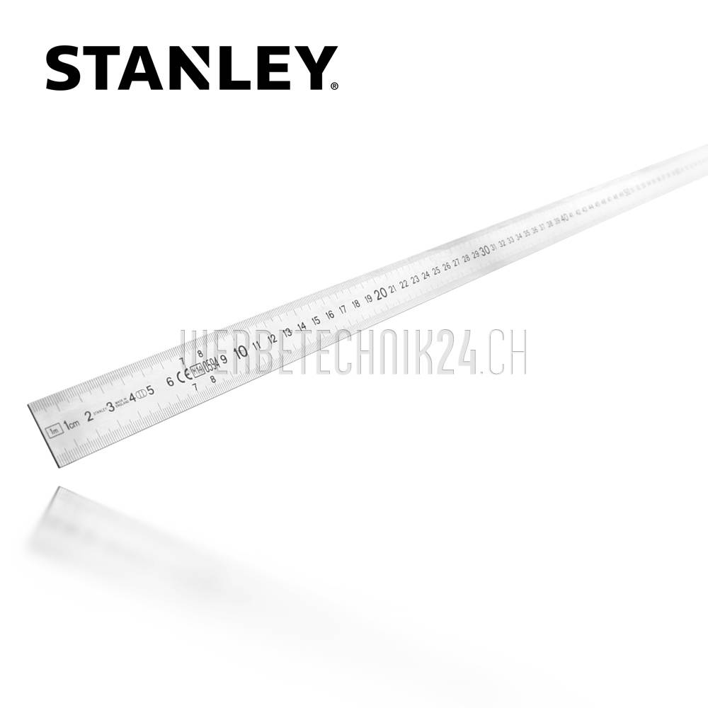 STANLEY® Stahlmaßstab halbstarr 1000mm