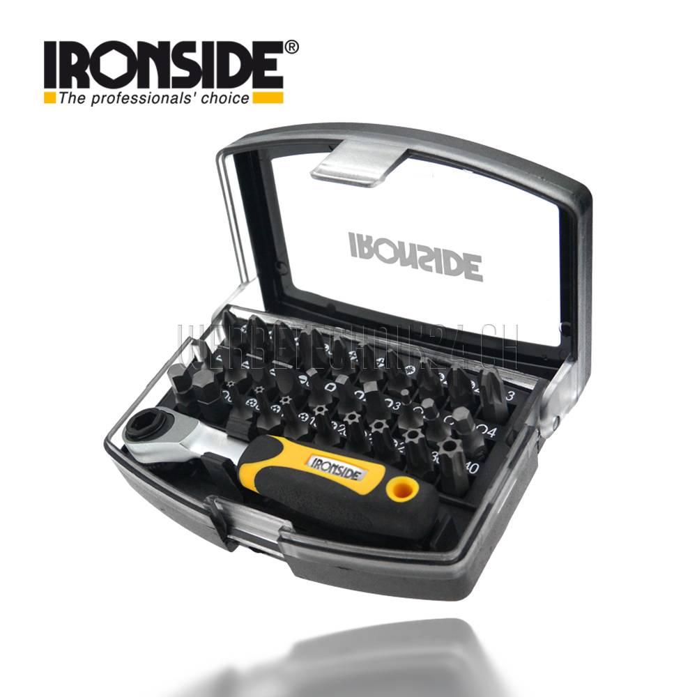IRONSIDE®Jeu d'embouts 31 pièces avec mini-clé à cliquet