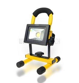 Projecteur LED 10W à accu 750 Lumen