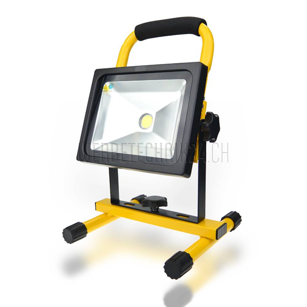 Projecteur LED 20W à accu 1500 Lumen