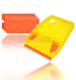 """Porte-lame avec 5 lames en plastique """"Orange"""""""