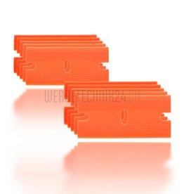 """Lame de rechange en plastique """"Orange"""" 10 pièces"""