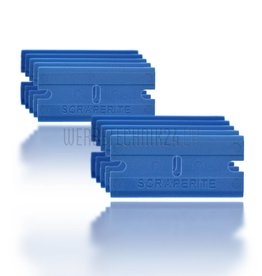 """Lame de rechange en plastique """"Bleu"""" 10 pièces"""