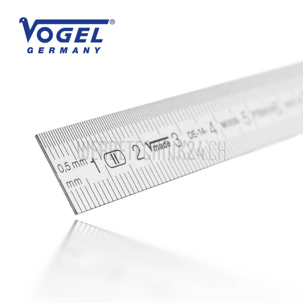 VOGEL® Règle inox flexible  250mm