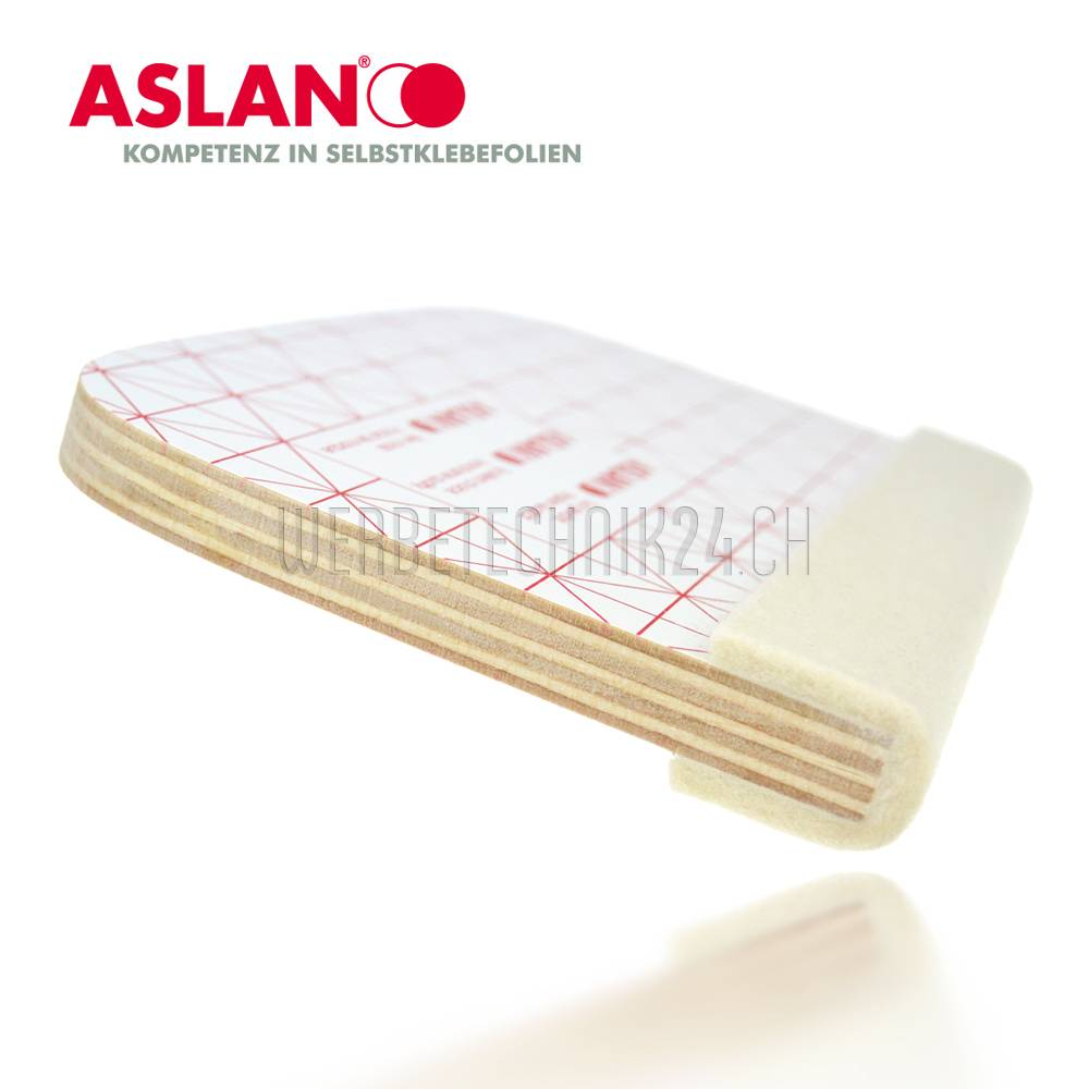 Aslan® Raclette en bois 155mm