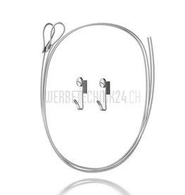Kit de suspension crochet & câble en acier 150cm- ø1.5mm