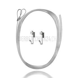 Kit de suspension crochet & câble en acier 400cm- ø1.5mm