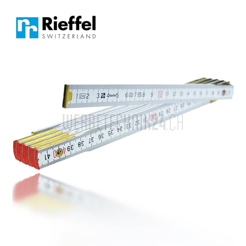 Rieffel® Glieder-Doppelmeter Holz weiss