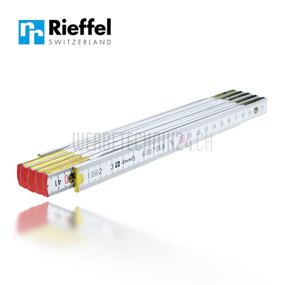 Rieffel® Double mètre pliable Bois blanc