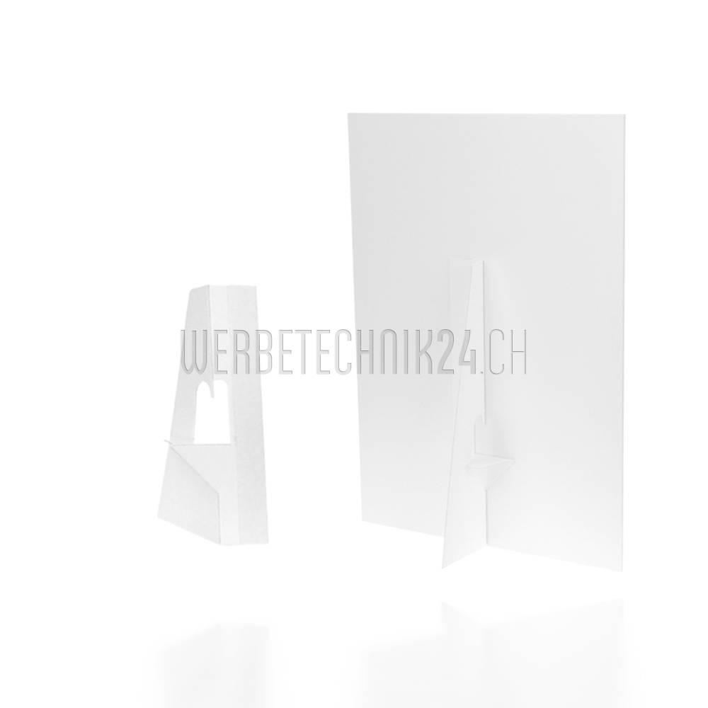 Chevalet simple en carton adhésif 120mm