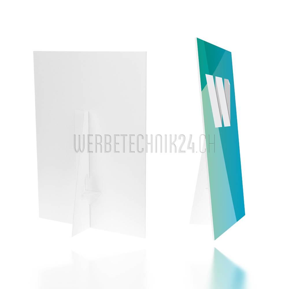 Chevalet simple en carton adhésif 390mm