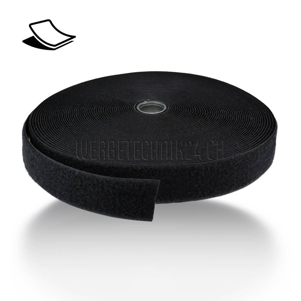 Bande Velcro noir _ partie velours _ adhésive 50mm x 25m