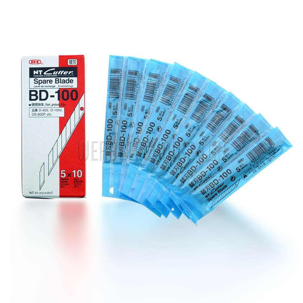 NT Cutter® Klingen BD-100 (50 Stk.)