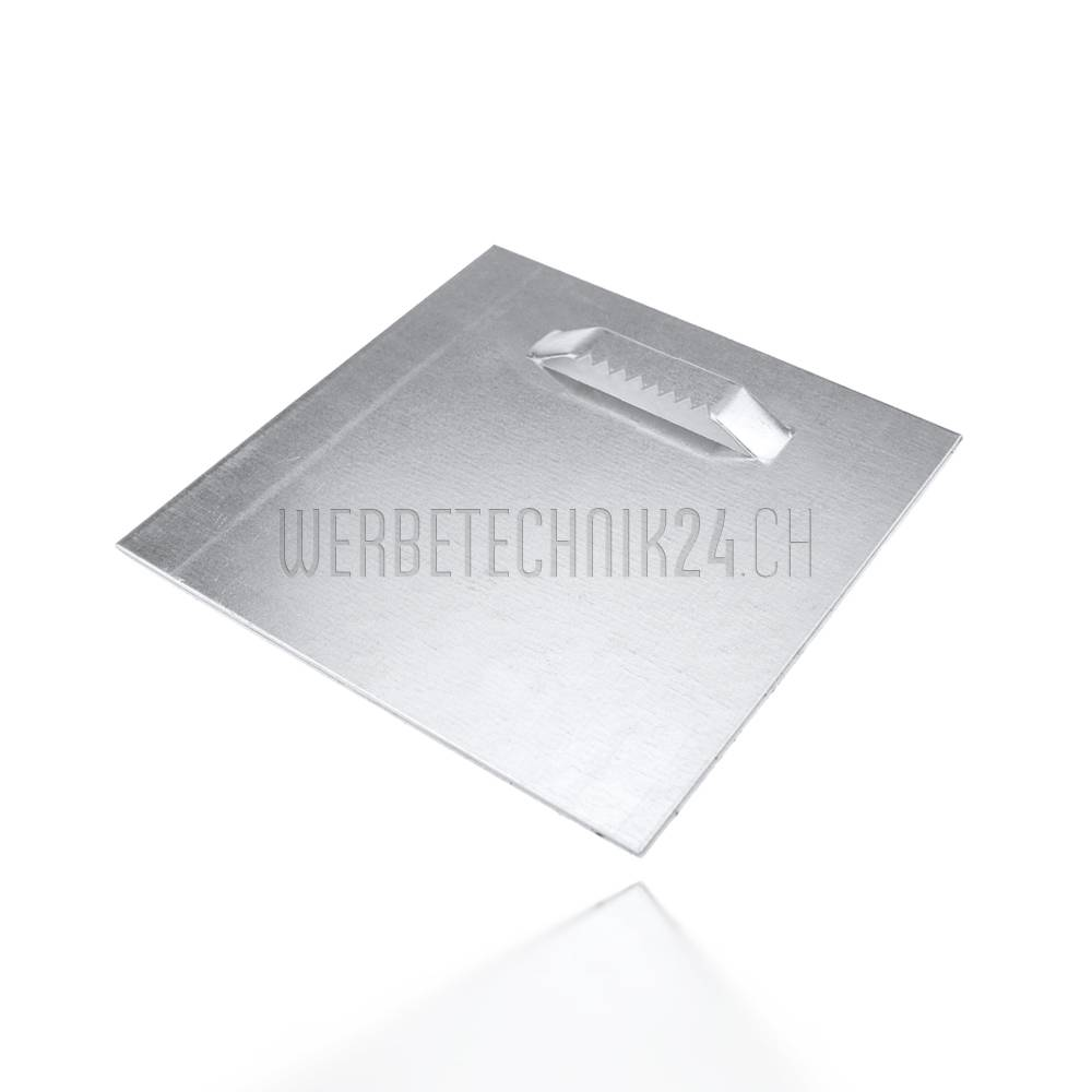 Aufhängeplatte selbstkl. gezahnt 100x100mm