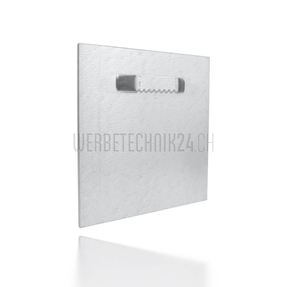 Plaque de suspension adhésive dentelée 100x100mm