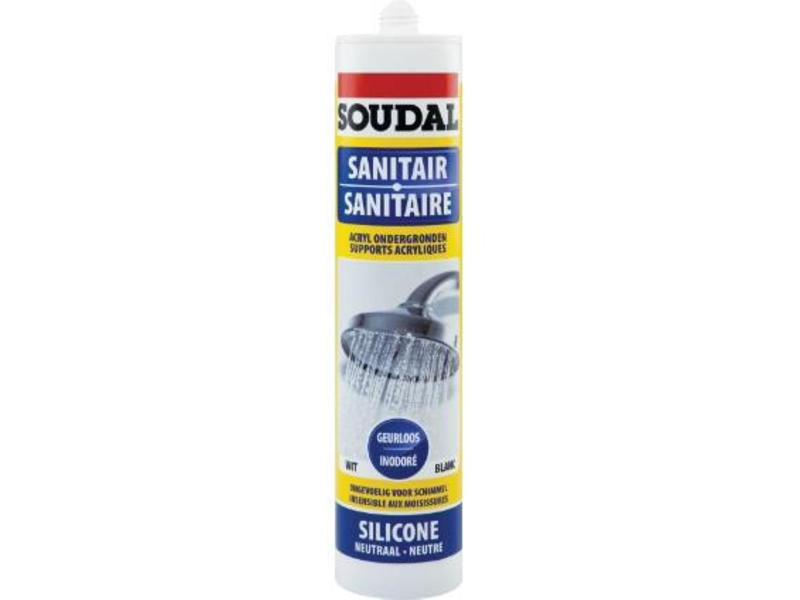 Soudal Neutrale sanitaire silicone wit 300 ml