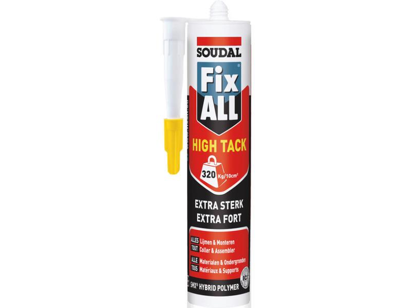 Soudal Fix All High Tack zwart 290 ml