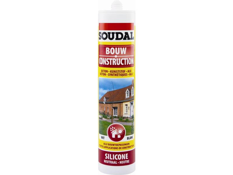 Soudal Bouw silicone wit 300 ml