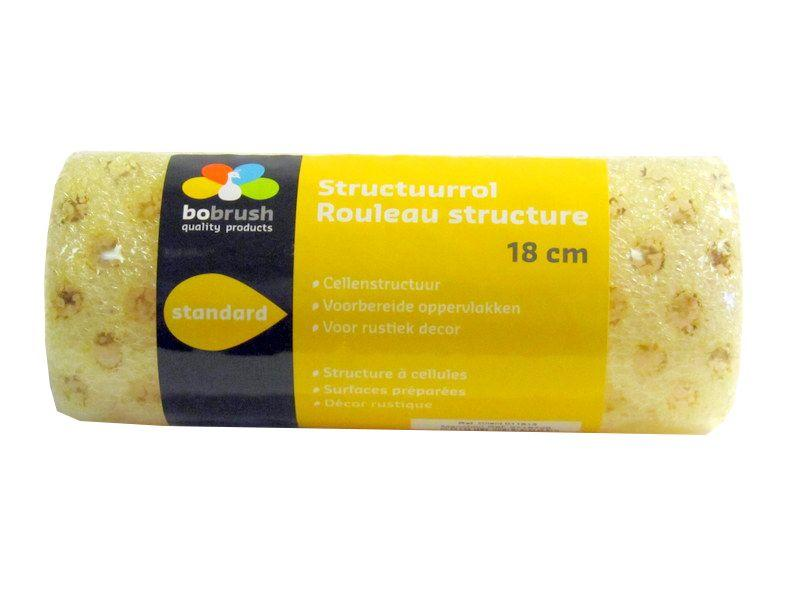 Bobrush Structuurrol cellen polyester 18 cm