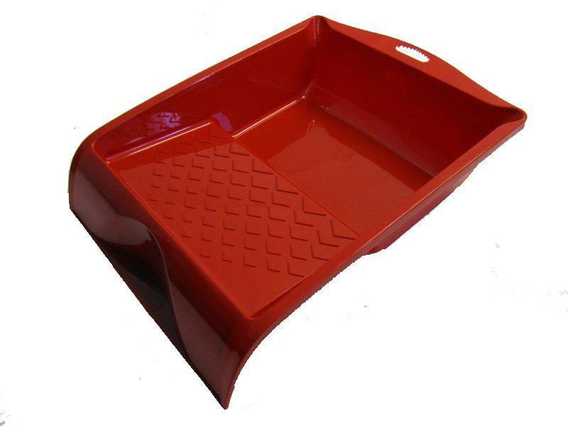Bobrush Verfbak kunststof 15,5 x 30 cm rood