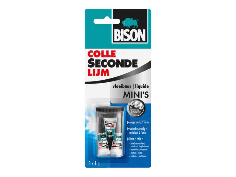 Bison Secondelijm Mini 3X1G