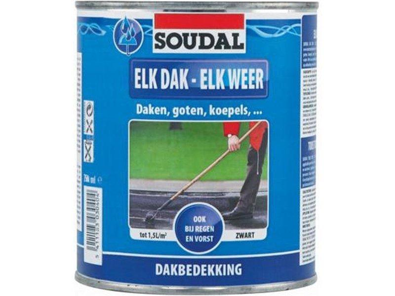 Soudal Elk Dak - Elk Weer zwart 750 ml