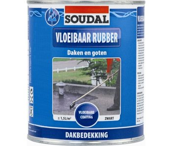 Vloeibaar Rubber zwart 4 l