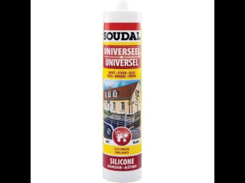 Soudal Universele silicone grijs 300 ml