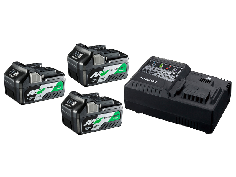 Hikoki BoosterPack Multi-Volt - 3 x 5Ah 18V / 2,5Ah 36V + Lader UC18YSL3