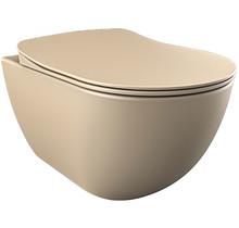 CREAVIT DESIGN OPHANG WC ZONDER SPROEIER (BIDET), CAPPUCINO MAT