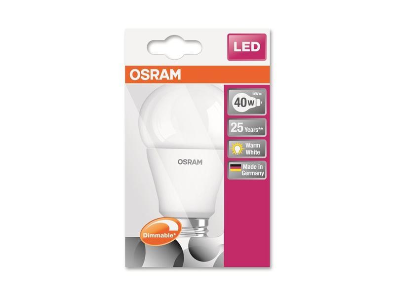 Osram LED SUPERSTAR CLA40 E27 6W WW