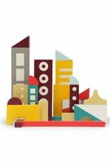 Ikonic Toys Floris Hovers Houten Blokkenset - 'Stad'